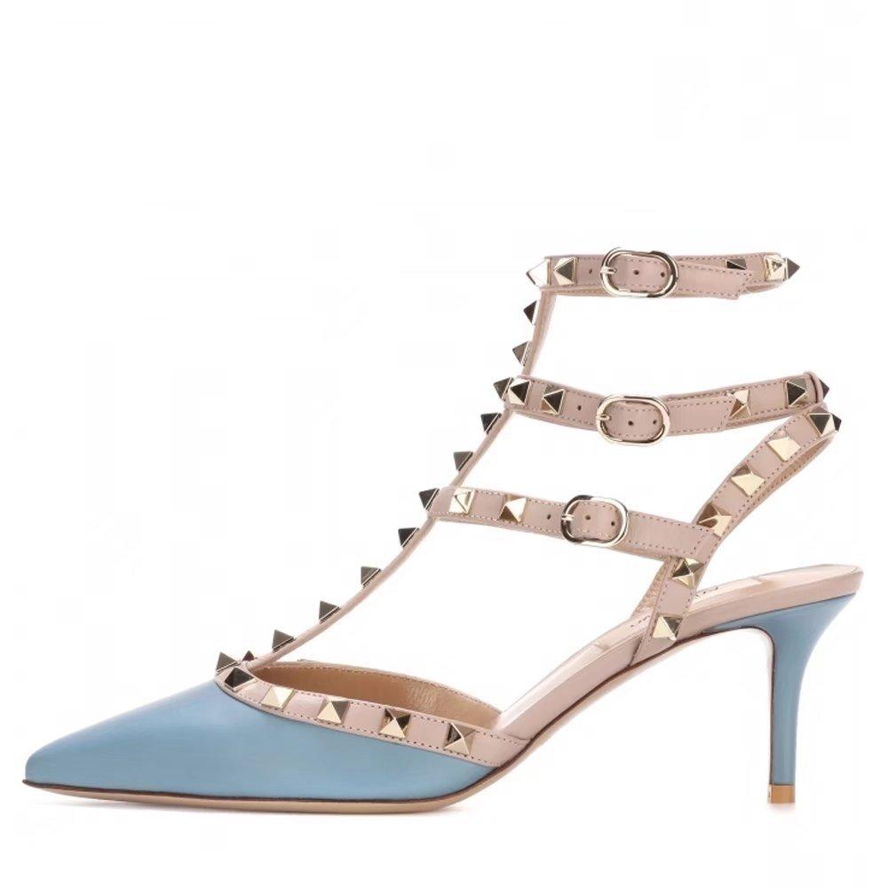 Chris-T - Sandalias de Moda para Mujer 14 B(M) US|Azul