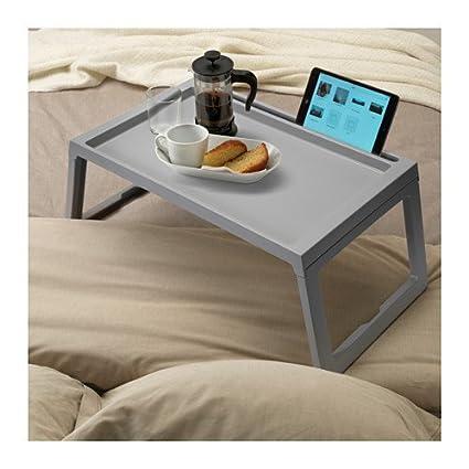 IKEA cama KLIPSK bandeja, bandeja para desayuno plegable - Tamaño Longitud: 70 cm, ancho: 36 cm, altura: 26 cm: Amazon.es: Hogar