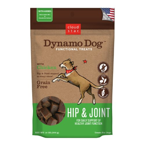 Cloud Star Dynamo Dog Hip and Joint Functional Treat Pouches, Chicken, 14-Ounce, My Pet Supplies