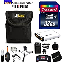 32GB Accessory Kit for Fuji Fujifilm FinePix XP90, XP80, XP60, XP70 includes 32GB High-Speed Memory Card + Fitted Case + NP-45 / NP45A Battery + AC/DC Charger + Floating foam strap + Accessories Kit