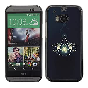Impact Case Cover with Art Pattern Designs FOR HTC One M8 Assassins Logo Crest Betty shop
