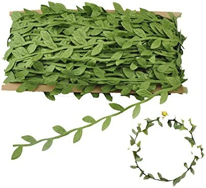 Green Leaves Leaf Trim Vine Wreath Party DIY Ornaments Wedding Party Home Deco