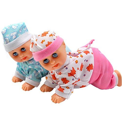 Fiaya Lovely Electric Music Crawling Baby Talking Singing Dancing Doll ()