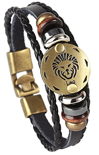 Hamoery Leather Bracelet Constellation Braided