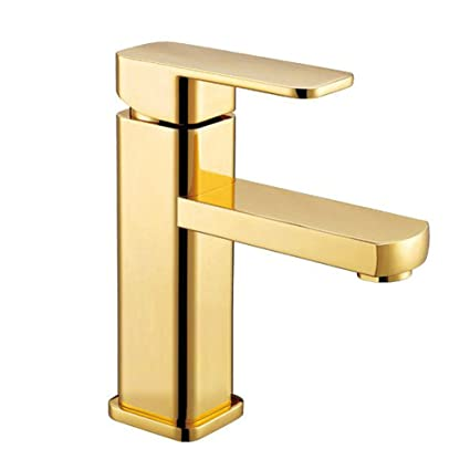 polished brass bathroom faucet single handle vessel sink mixer tap rh amazon com polished brass single handle bathroom faucet brass single hole bathroom faucet