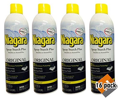 Niagara Spray Starch Crisp Finish, Sharp Look Without Excess Stiffness, 4 pack (16 count) by Niagara (Image #1)