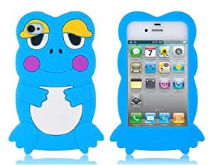 Frog Design Silicone Case for iPhone 4/ 4S (Blue)