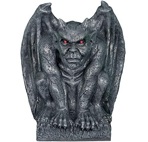 Animated Gargoyle Statue Halloween Decoration and Prop, 13 3/4
