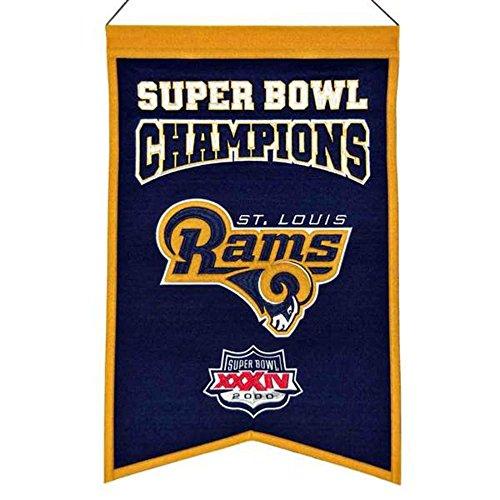 NFL Los Angeles Rams Super Bowl Champs Banner by Winning Streak