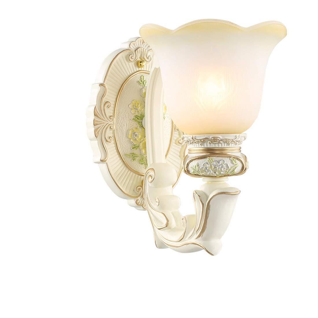 T-ZBDZ Wohnzimmer-Wandlampe der Europäischen Art moderne Restaurantgang-Treppenhausschlafzimmernachtwandlampe, einzelner Kopf