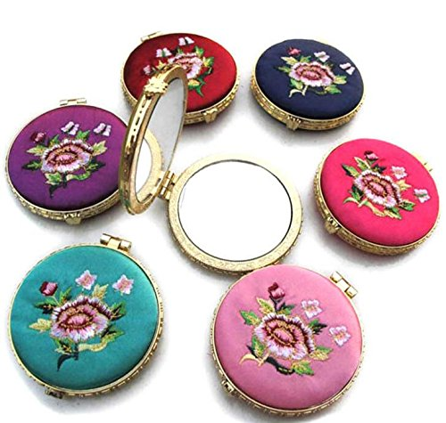 Price comparison product image Hezon Compact Mirror Travel Makeup Mirror Handbag Purse Mirror Round(Random Colour)
