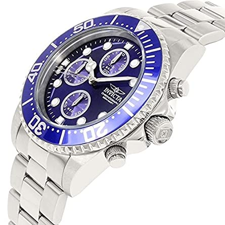 Invicta Men s 1769 Pro Diver Collection Stainless Steel Bracelet Watch with Silver Blue Dial