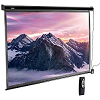 VonHaus 100 Inch Motorized Automatic Projector Screen...