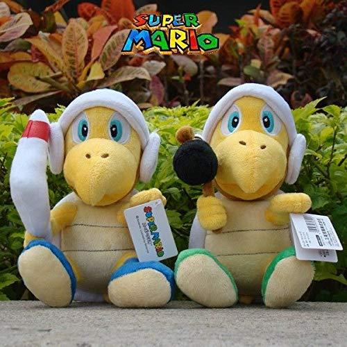 "3Pcs Super Mario Run Plush Toy Hammer /& Boomerang /& Bomb Bros Koopa 8/"" Soft Doll"