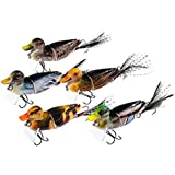 TRUSCEND Fishing Lures for Bass,Topwater Lures Duck Fishing Baits with Treble Hooks Fishing Lure Duck Lures Baits