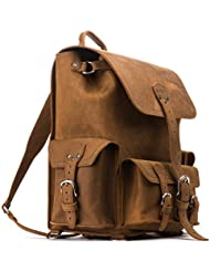 Saddleback Leather Front Pocket Backpack for Business, Travel - 100 Year Warranty