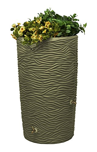 Good Ideas IMP-L65-KHA Impressions Palm Rain Saver, 65-Gallon, Khaki