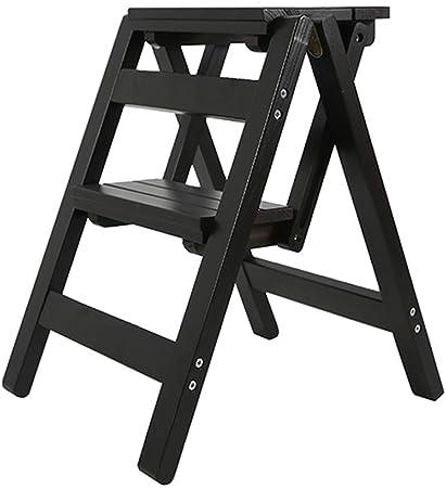 QQXX Escaleras Plegables de 2 Pedales, escaleras para el hogar, Pedales de Madera, Aptos para niños y Adultos, Herramientas de jardinería doméstica, Servicio Pesado máx. 200 kg (3 Colores), Madera: Amazon.es: Hogar