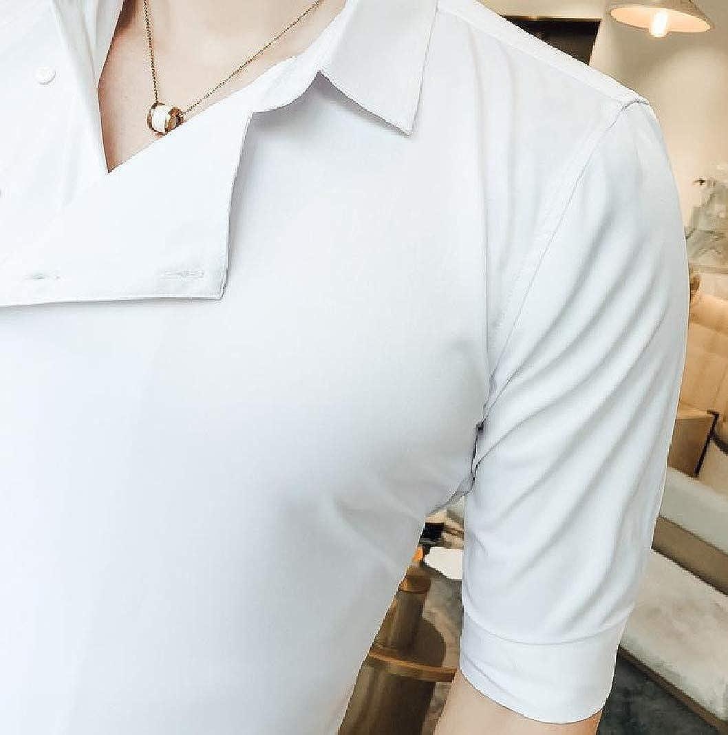 Sayah Mens Evening Club Trendly Silm Fit Half Sleeve Simple Uniform Western Shirt
