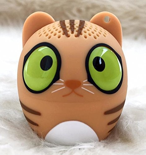 Mini Portable Bluetooth Pet/Cat Speaker with Clear / Loud Sound 3W Audio Driver, Hands-free Call & Selfie Function. Work with iPhone5/6/7, iPad, iPod, HTC, Samsung, Laptop, Tablet.