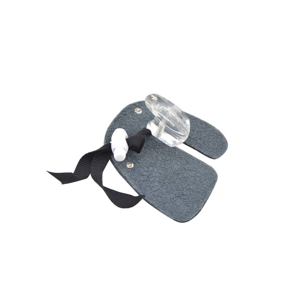 ZSHJG Tiro al Arco Protector de Dedos Tab Guardia Cuero De Tiro con Arco Guante Protector del Dedo Guardia Guantes de Dedo Izquierdo o Derecho