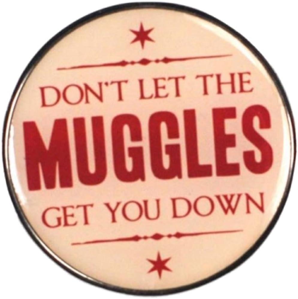 Pritties Accessories Echter Warner Bros Harry Potter Muggles Zitat Pin Badge