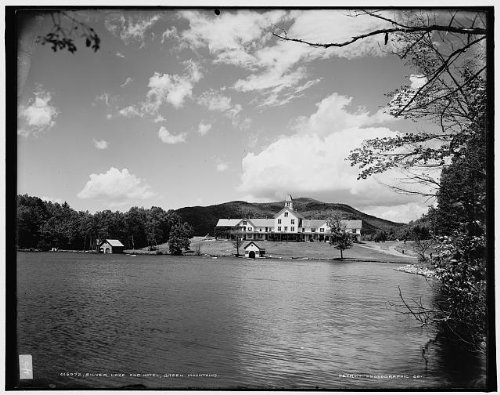 HistoricalFindings Photo: Silver Lake,hotel,inn,Green Mountains,Vermont,VT,Detroit Publishing Company,1900