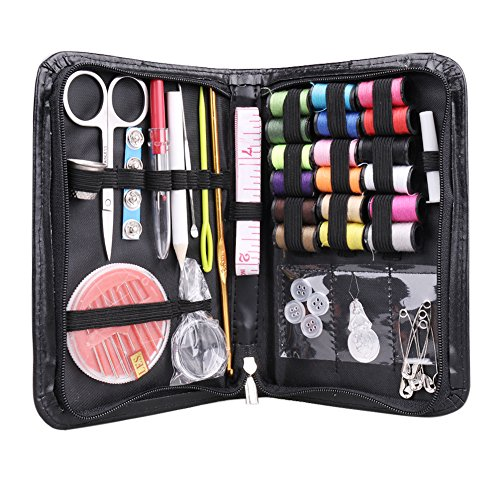 IDEYAL 38 Elemental Sewing Supplies Kit Packed In A Compact Carrying Case. The Best Sewing Supply Kit for Both Everyday use and Emergencies recommended for Use by Professionals and Beginners Similar