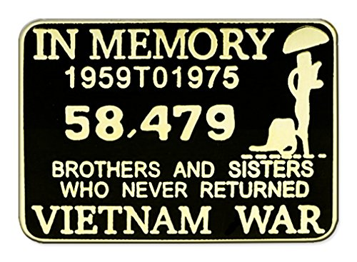 Vietnam In Memory Pin for Hat Lapel