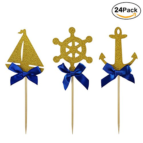 Shxstore-Nautical-Theme-Cupcake-Cake-Toppers-Picks-Of-Anchor-Boat-Rudder-For-Wedding-Birthday-Baby-Shower-Party-Decor-Supplies-24-Counts