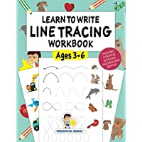 Learn to Write Line Tracing Workbook - Ages 3-6: Pen control, handwriting, and drawing practices for kindergarten…