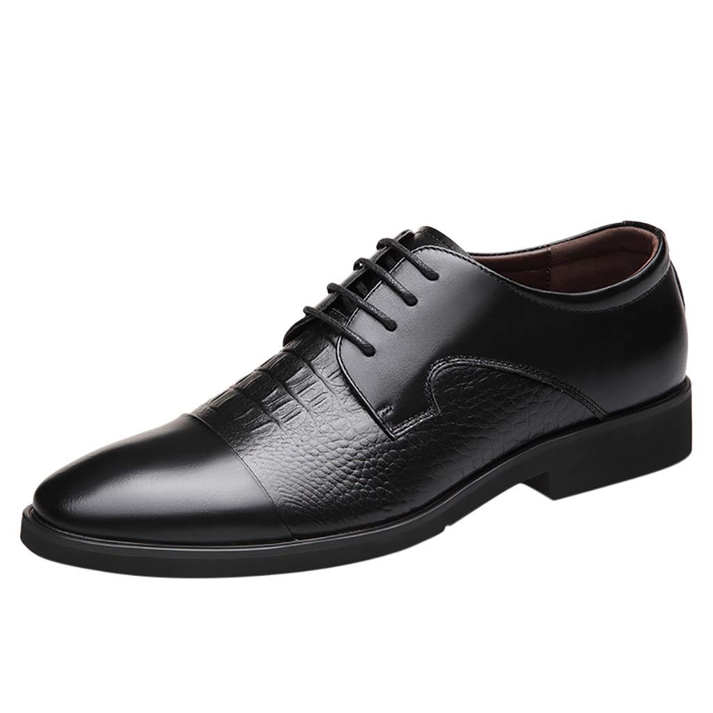 Men's Oxford Sneaker Dress Shoes-Men Business Men's Leather Shoes Business Pointed Paint Leather Bright Leather Fashion Shoes