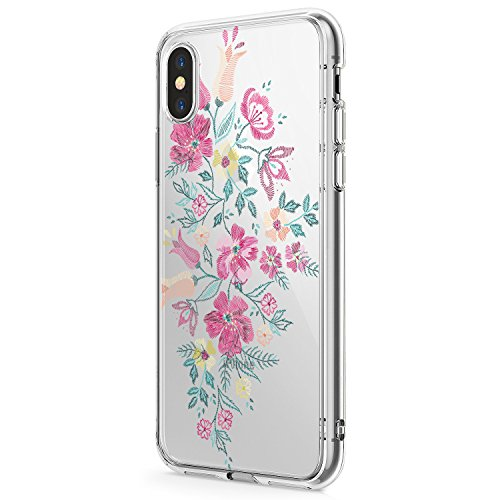 iPhone-X-Case-2017-iPhone-10-Clear-Case-Floral-Ultra-Thin-TPU-Bumper-Protective-Case-Transparent-for-iPhone-X
