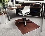36'' x 48'' Cherry Roll-Up Bamboo & Hardwood Office Chair Mat
