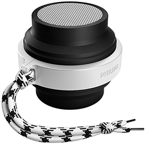 Philips FLEX BT2000B/37 Bluetooth Wireless Portable Speaker (Black/White) (Phillips Wireless Speaker)
