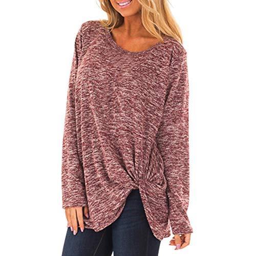 Long Sleeve Blouse,BeautyVan Women Casual Loose Long Pullover Crew Neck T-Shirt Blouse Tops ()