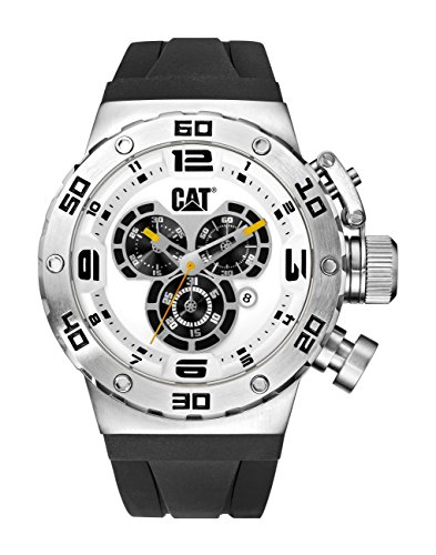 CAT WATCHES Men's 'DS49' Quartz Stainless Steel and Silic...