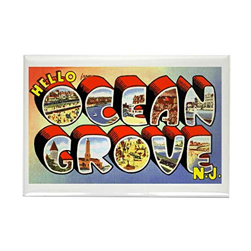 CafePress Ocean Grove New Jersey Greetings Rectangle Magnet, 2
