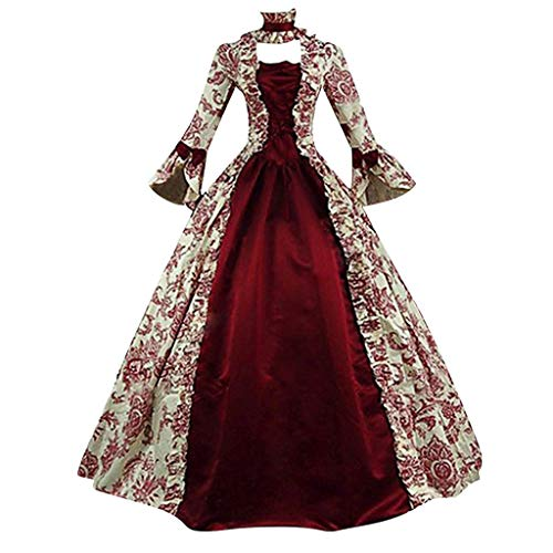 XUEJIN Women Girls Musical Drama Opera Phantom Cosplay Costume Christine Masquerade Gothic Gown Corset Red Long Dress