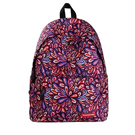4cd31bbca3c7 Image Unavailable. Image not available for. Color  HITSAN INCORPORATION Colorful  Flowers Pattern Print Travel Backpack School Shoulders Bag ...