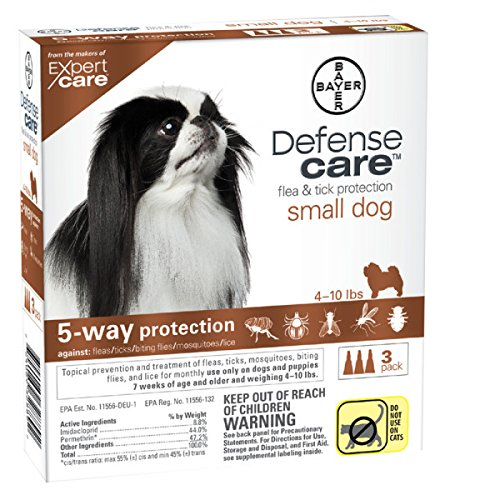Bayer Defense Care 3-tubes Flea & Tick Dog Protection Weighing 4 - 10 Lbs.
