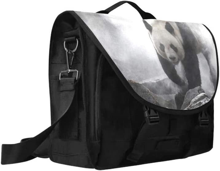 Laptop Bag for Men Chinese Black White Panda Bamboo Multi-Functional Woman Bag Fit for 15 Inch Computer Notebook MacBook