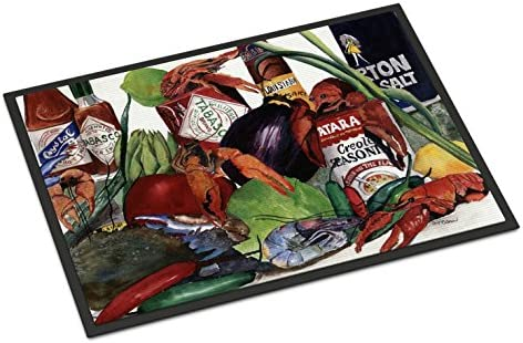 Caroline s Treasures 8131JMAT Louisiana Spices Indoor or Outdoor Mat 24×36 Doormat, 24H X 36W, Multicolor