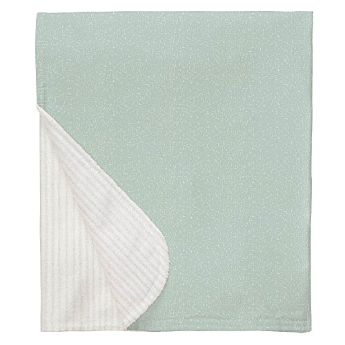 Carousel Designs Seafoam Heather Crib Blanket
