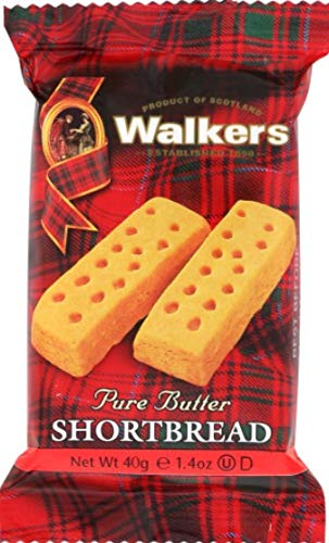 Walkers Shortbread Fingers, 2 Count, Traditional and Simple Pure Butter Shortbread Cookies from the Scottish Highlands, Quality Ingredients, Free from Artificial Flavors (12 pack) by Walkers