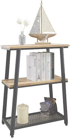Estante para libros Chunlan Escalera de Madera de 3 Capas Almacenamiento/Estantería - Color Vintage - 60 * 33 * 80cm: Amazon.es: Hogar