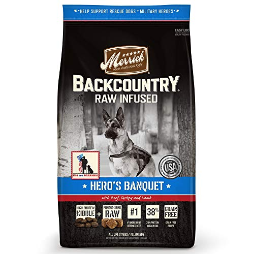 Merrick Backcountry Grain Free Raw Infused Puppy Dry Food, 4 Lbs.