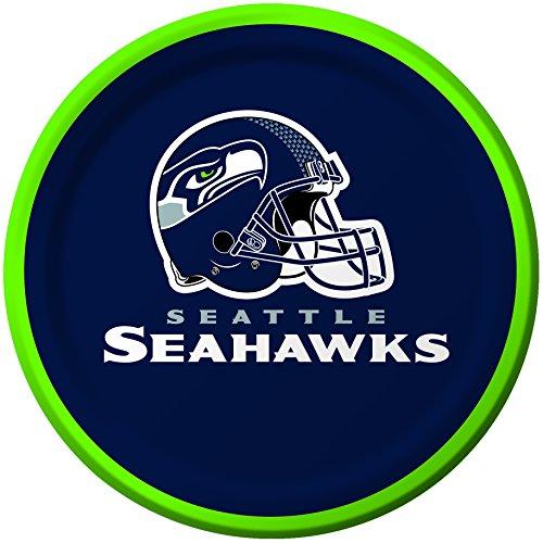 8 Count Seattle Seahawks Paper Dessert Plates ()