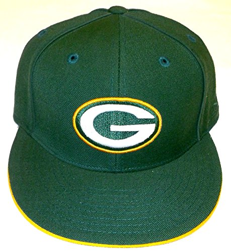 Reebok Green Bay Packers Flat Bill Fitted Hat - 7 1/8
