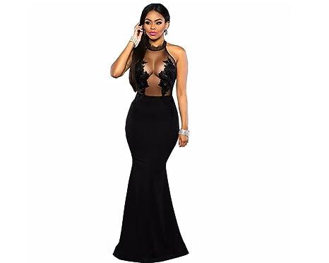 Vestidos Ropa De Moda 2017 Para Mujer De Fiesta y Noche Elegante (M, Black